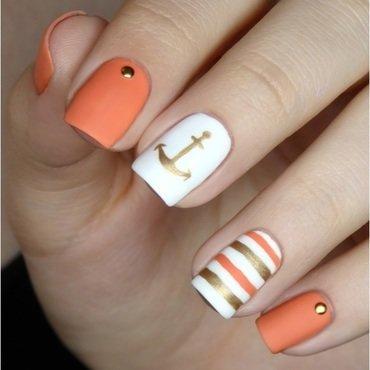 Anchors aweigh! nail art by barbrafeszyn