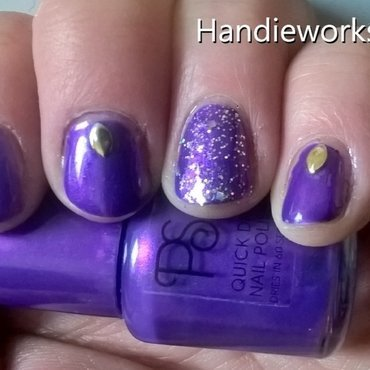 purple primark polish nail art by Sazjay
