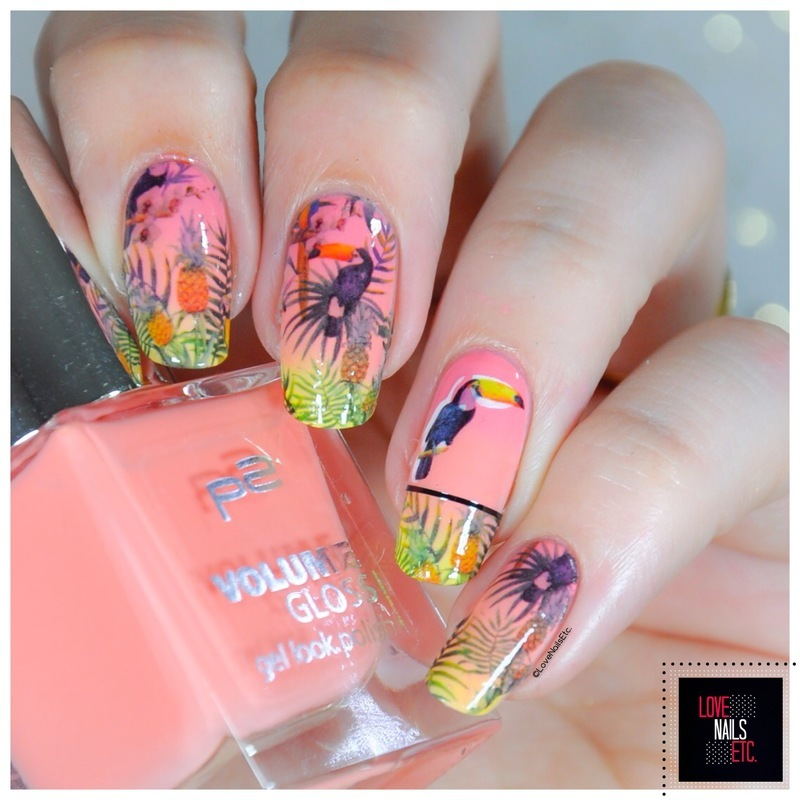 Toucans nail art by Love Nails Etc