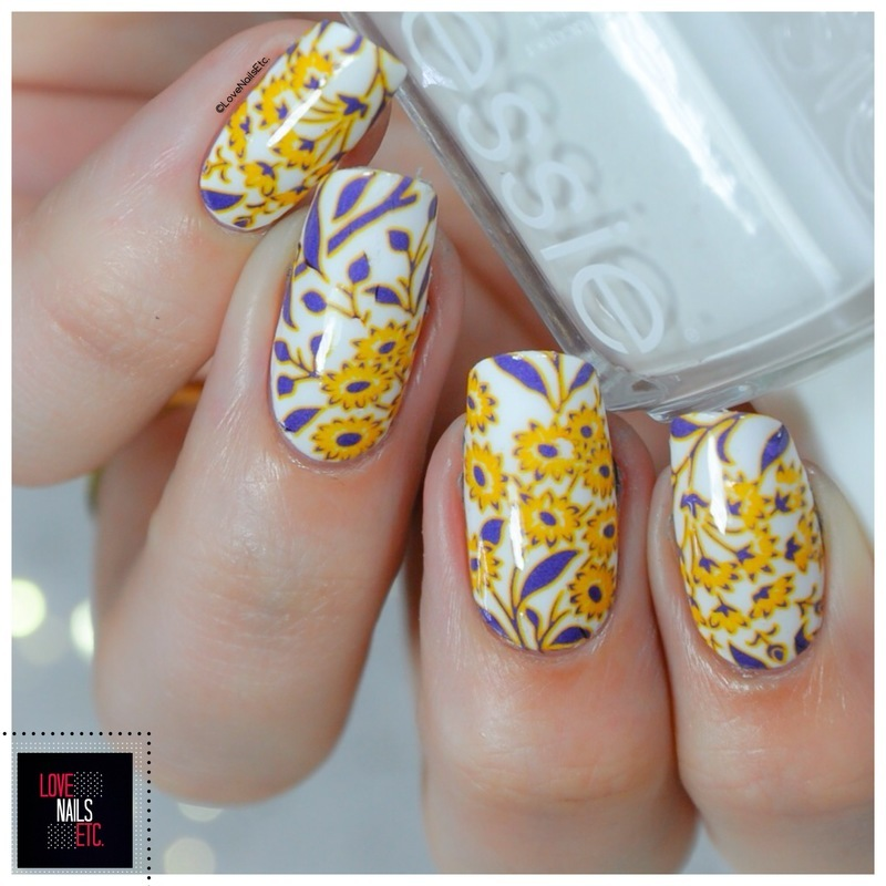 Wild flowers nail art by Love Nails Etc