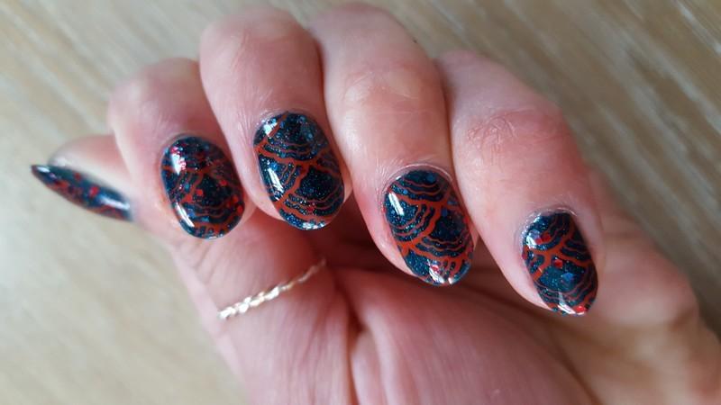 Red Sea nail art by Alisha Worth