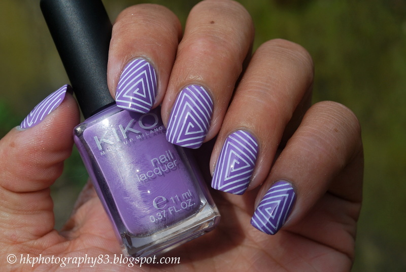 Triangle stamping nail art nail art by Hana K.