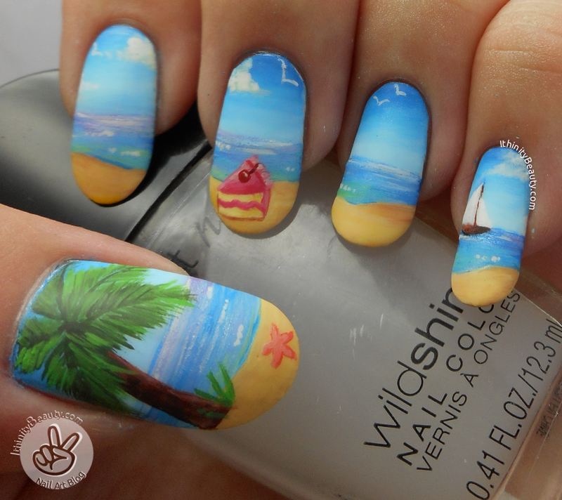 Cake By The Ocean nail art by Ithfifi Williams
