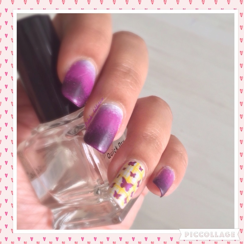 Butterfly nail art by Polish Addiction