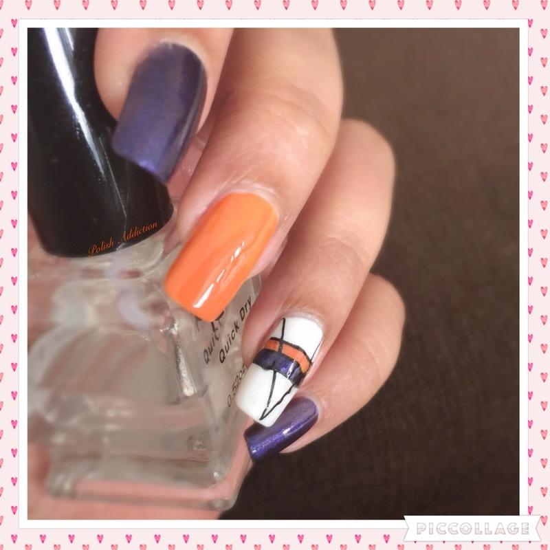 Striping  nail art by Polish Addiction