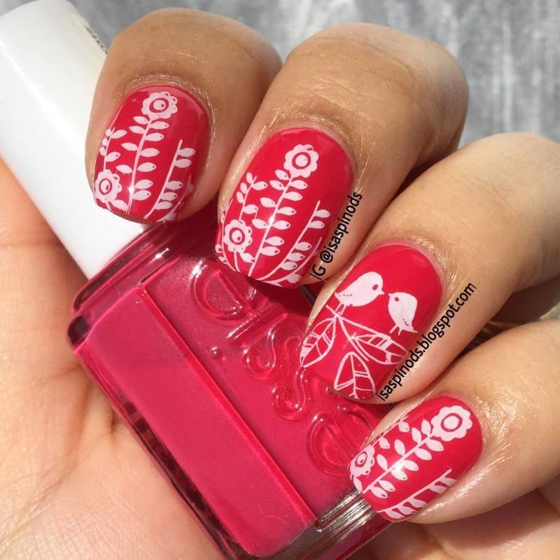 Probando la Placa BP-X14  nail art by Isabel