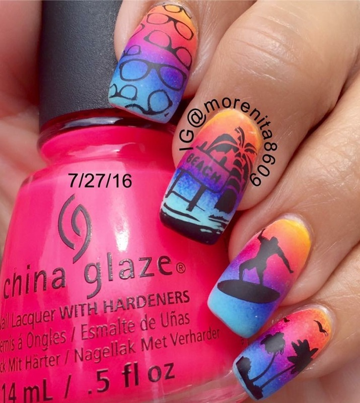 Because everyday should feel like a day at the beach 👙 nail art by Morenita  Morena