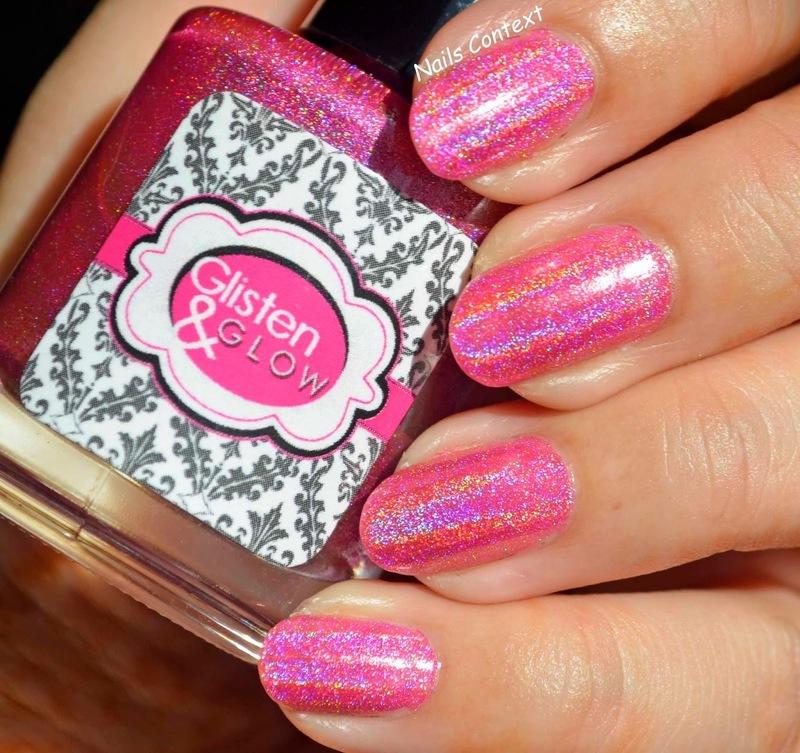 Glisten & Glow Raspberry Margarita Swatch by NailsContext