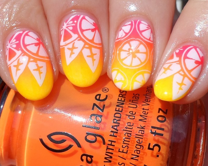 Oranges nail art by Plenty of Colors