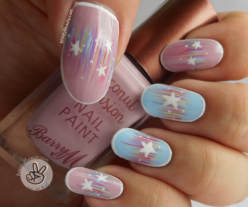 Streamers & Starry Confetti nail art by Ithfifi Williams