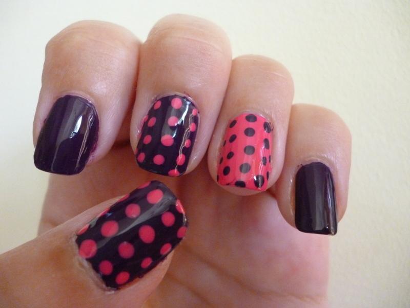 Plum & Strawberry nail art by velinux
