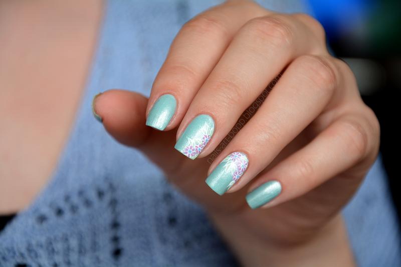Azure Glow nail art by bopp