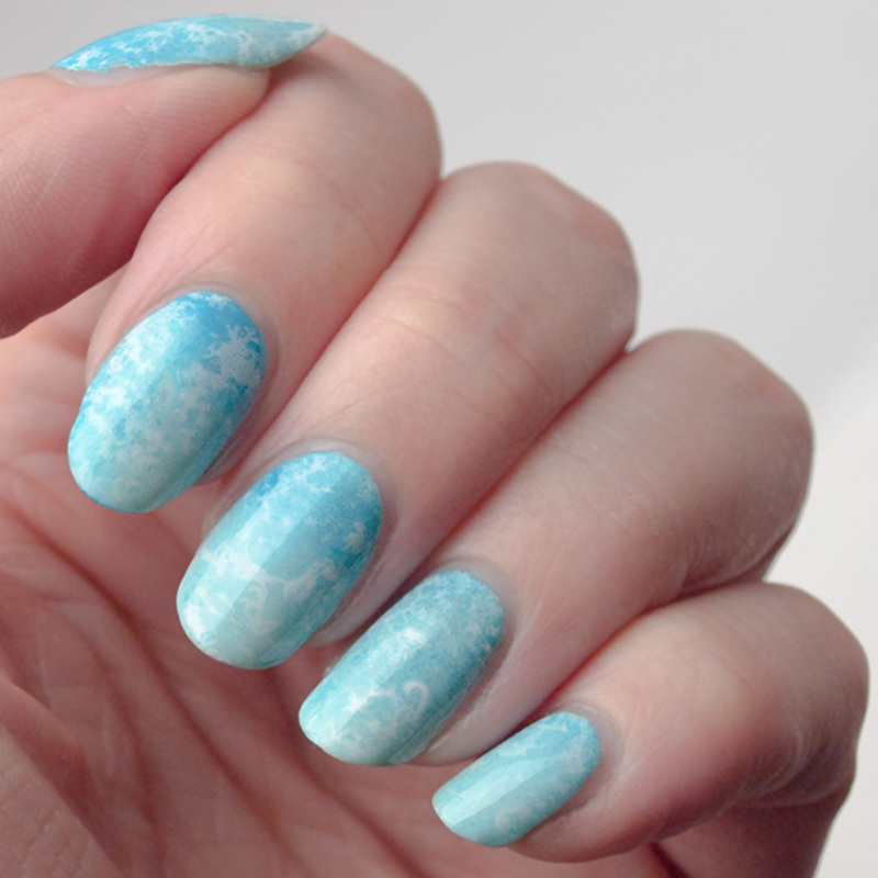 Larimar nails nail art by What's on my nails today?