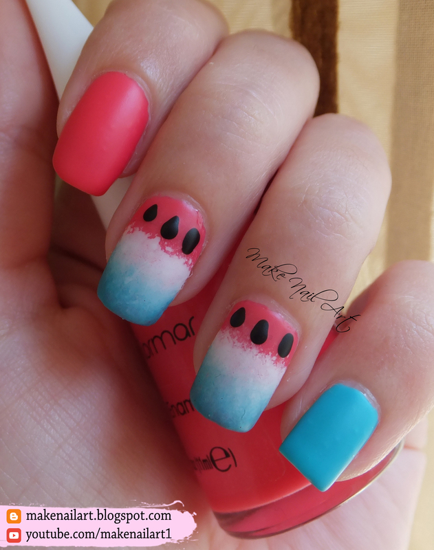 Watermelon Nail Art Design nail art by Make Nail Art