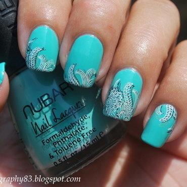 Triple stamping nail art  nail art by Hana K.