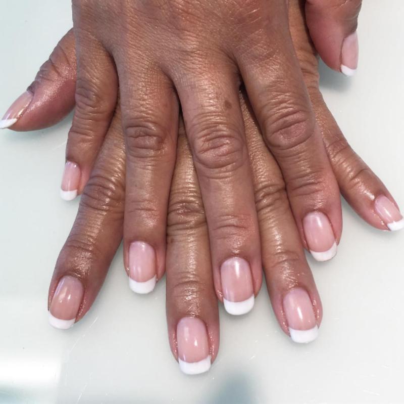 Frenchy nail art by Kristen Lovett