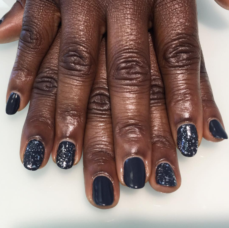 Hint of sparkly nail art by Kristen Lovett