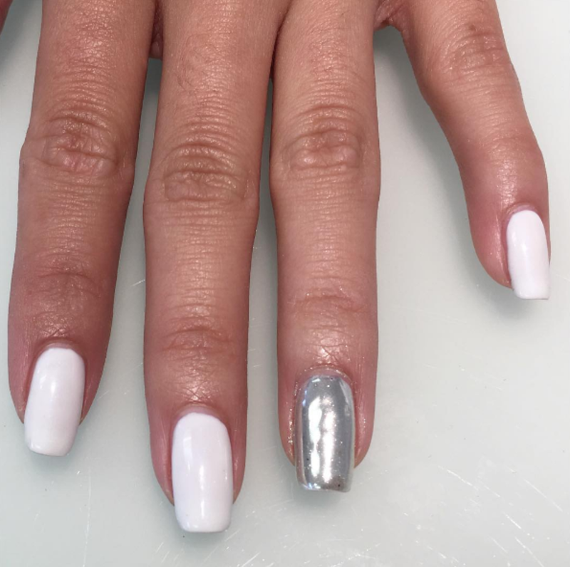 Chromed Out nail art by Kristen Lovett