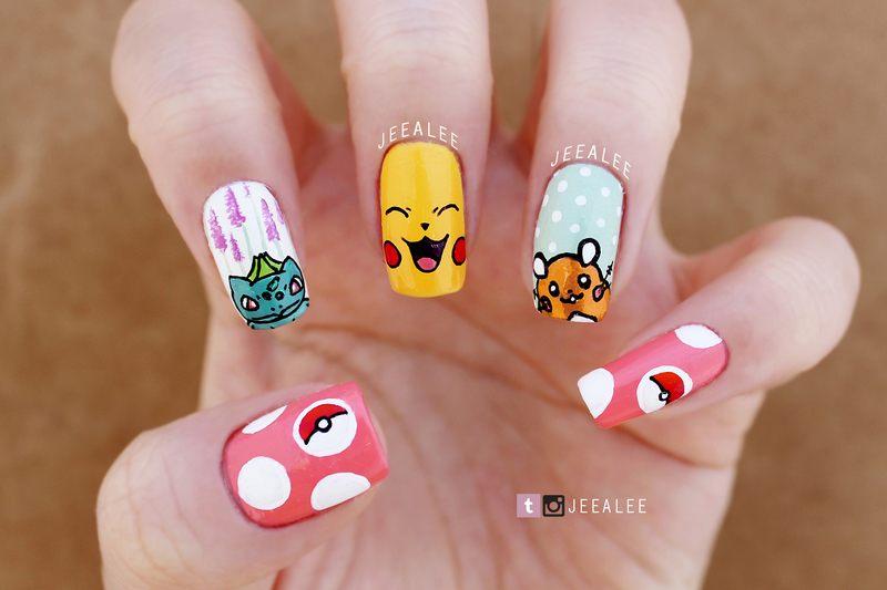 Pokemon Nails nail art by JeeA Lee
