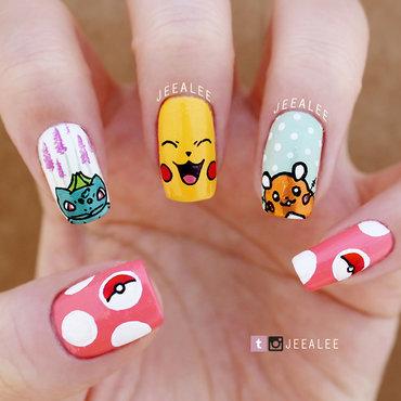 Pokemon Nails nail art by JeeA Lee