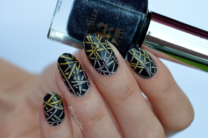 Tribute Nails nail art by Furious Filer