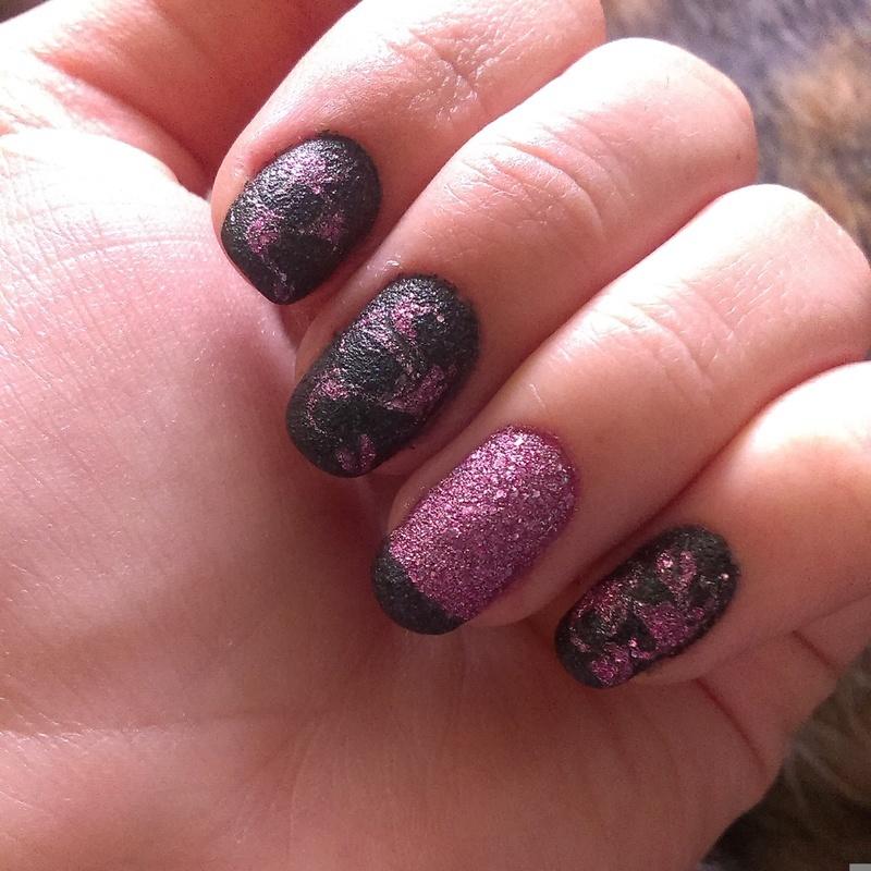 Dragmarble with sand polishes nail art by 9Sh4DeSOfBl4ckBooD