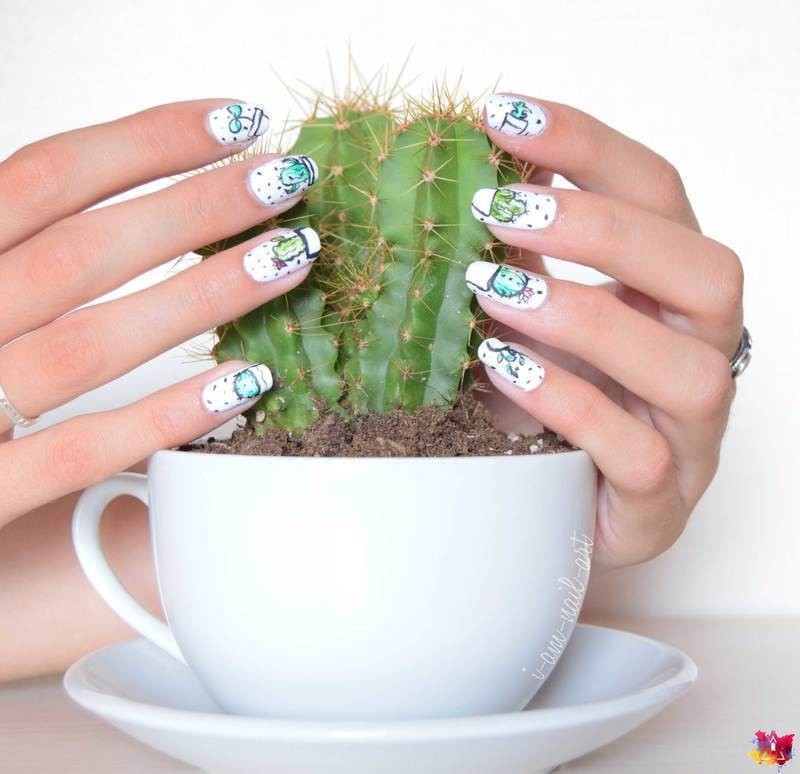 Cactus 🌵   nail art by i-am-nail-art