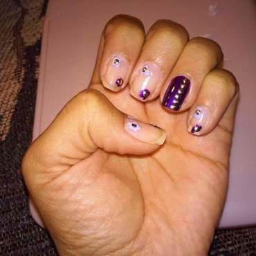 Purple flowers  nail art by Rubby  Jarnagin
