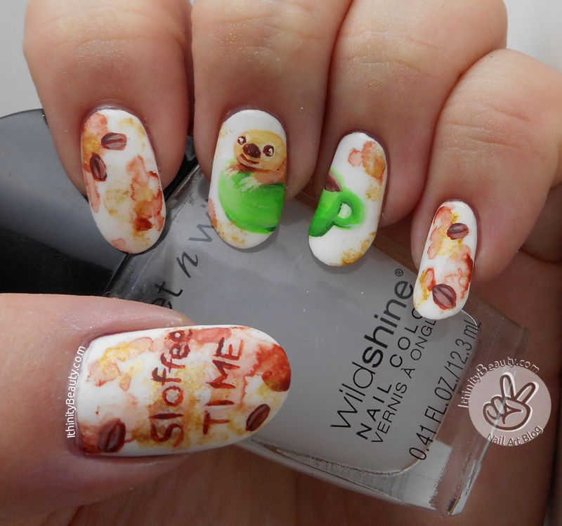 Sloffee Time nail art by Ithfifi Williams
