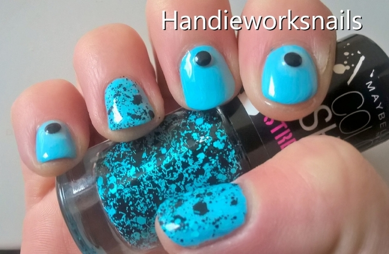 Dots with Attitude nail art by Sazjay