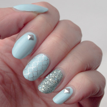Minty Moroccan manicure nail art by What's on my nails today?