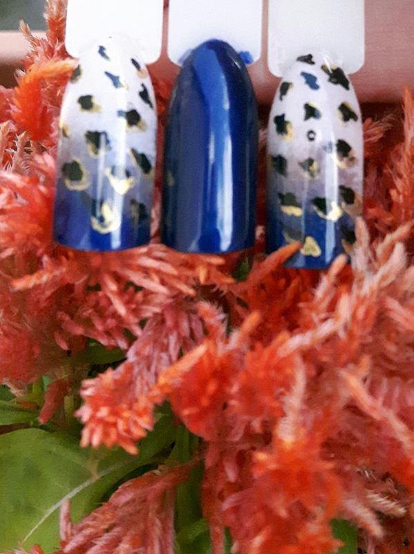 Ombre Centki nail art by Ewa EvaNails