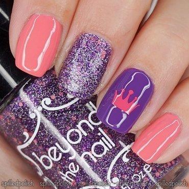 Purple & Pink Princess Nails nail art by Maddy S
