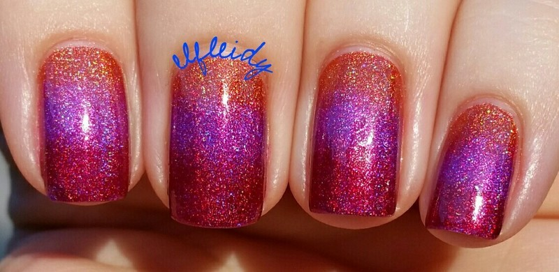 Gradient nail art by Jenette Maitland-Tomblin