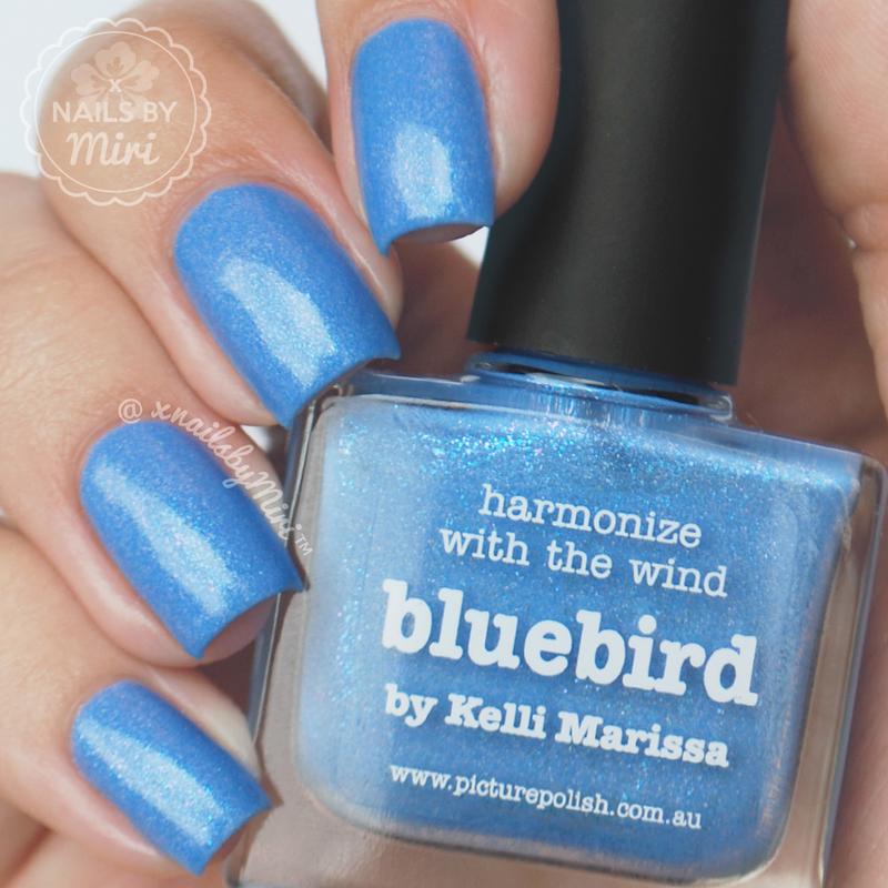 piCture pOlish Bluebird Swatch by xNailsByMiri
