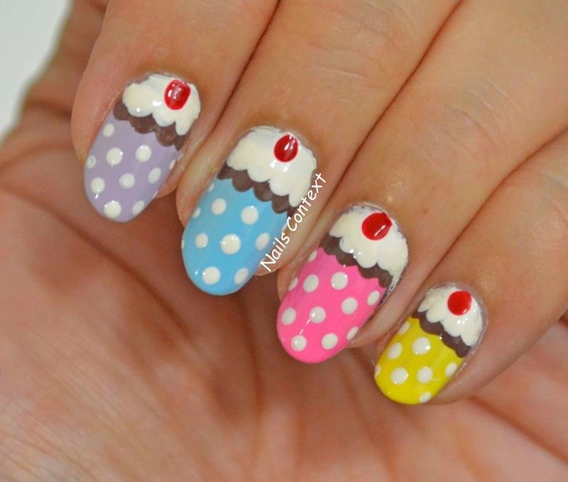 Cupcake Nails  nail art by NailsContext
