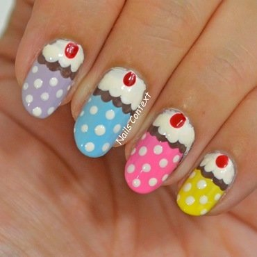 Cupcake Nails  nail art by NailsContext