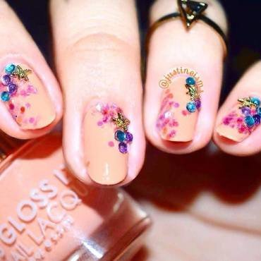 Starfish in the sea nail art by ℐustine