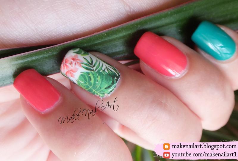 Summer Tropical Nail Art Design nail art by Make Nail Art