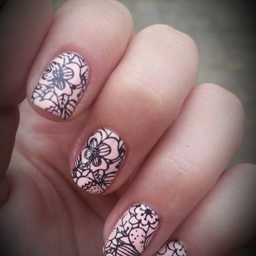 hot hot flowers nail art by redteufelchen86
