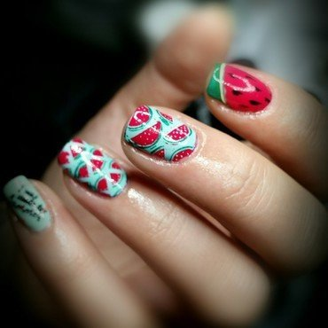 Time 4 watermelons nail art by redteufelchen86