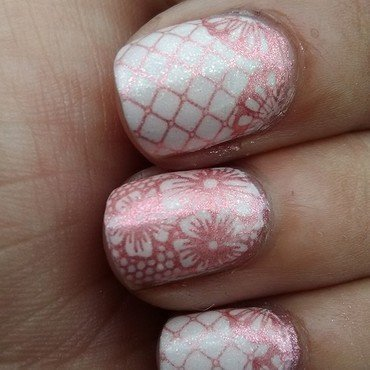 Pretty in Pink nail art by Sunny