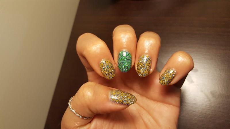 Glitter Bomb nail art by Alisha Worth