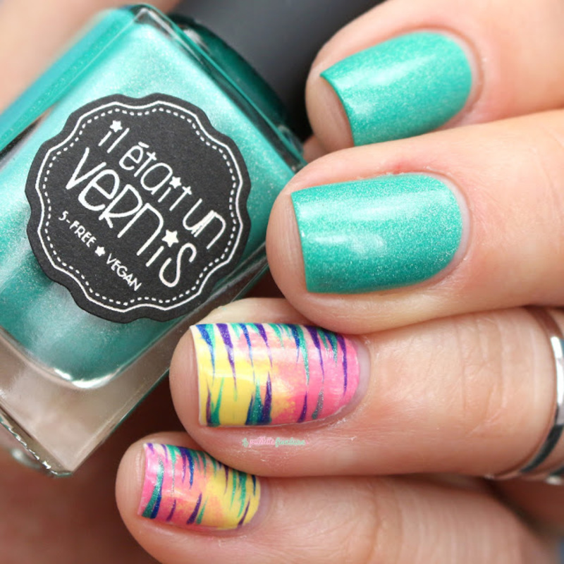 Tropical vibes nail art by nathalie lapaillettefrondeuse