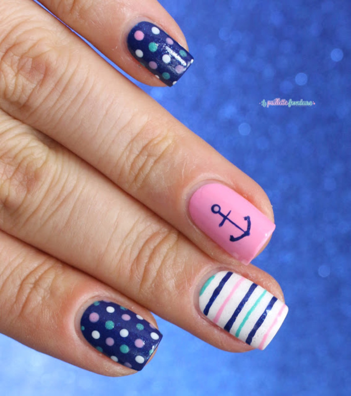 nautical dots nail art by nathalie lapaillettefrondeuse
