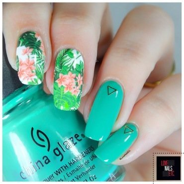 Tropical Nature nail art by Love Nails Etc