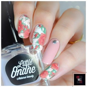 Romantic Roses nail art by Love Nails Etc