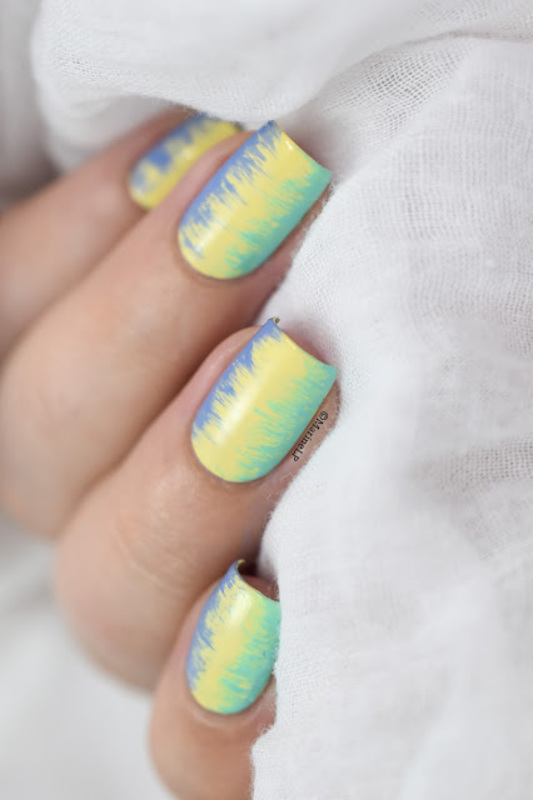 Summer fringed nail art (tutorial) nail art by Marine Loves Polish