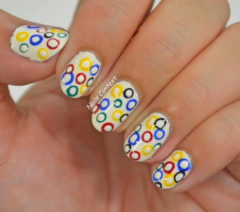 Olympics nail art by NailsContext