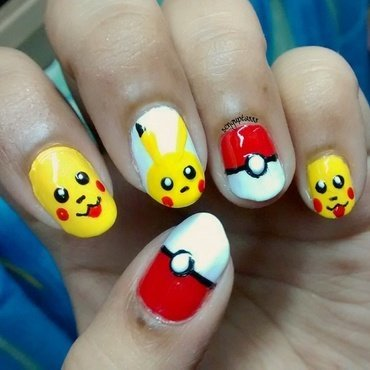 PokemonGo - Pikachu nail art by Sohini  Sengupta